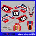 CR125 CR250 2000 2001 YEAR 3M GRAPHICS  RED BACKGROUND DECALS STICKERS KITS  DIRT BIKE MOTOCROSS
