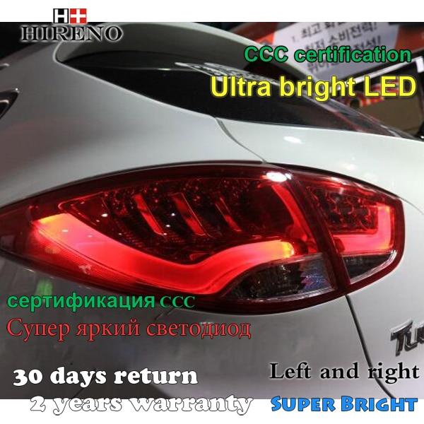 Hireno Tail Lamp for Hyundai Ix35 2009 2010 2011 2012 LED Taillight Rear Lamp Parking Brake Turn Signal Lights