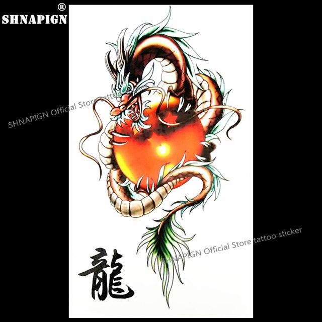 Shnapign Rouge Dragon Ball Tatouage Temporaire Corps Art Flash