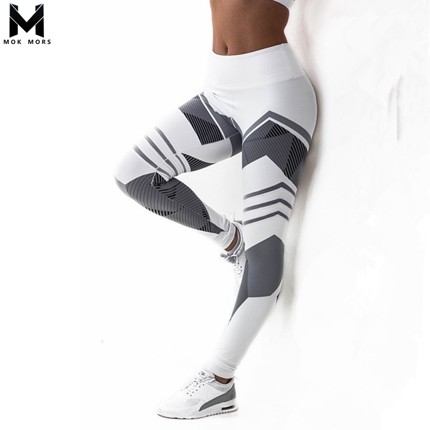 Hot 2018 Activewear High Waist Fitness   Leggings   Women Pants Fashion Patchwork Workout   Legging   Stretch Slim Sportswear Jeggings