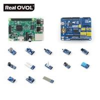 RealQvol Raspberry Pi 3 Model B Package D Development Kits Expansion Board ARPI600 Various Sensors Supports
