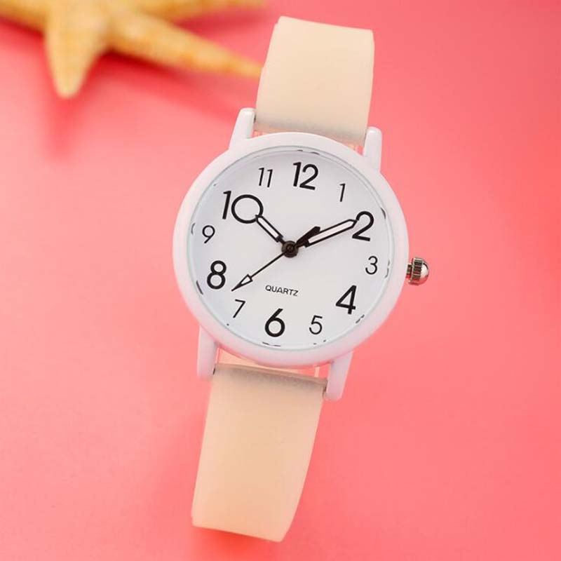 Watch Female Electronic Silicone Children's Student Fashion Strap Trend Korean Quartz