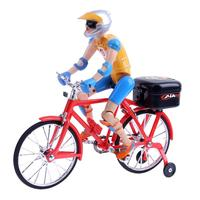 Electric Bicycle Bike Toy Riding On The Bike Figures Plastic Music Lighting Kids Novelty Finger Bicycle