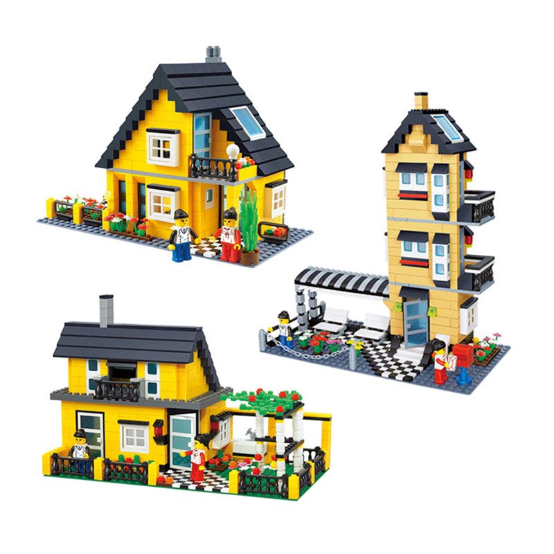 Villa Small Particles Of Plastic Building Blocks Assembled Toys Puzzle Enlightenment Toy For Children legoeings