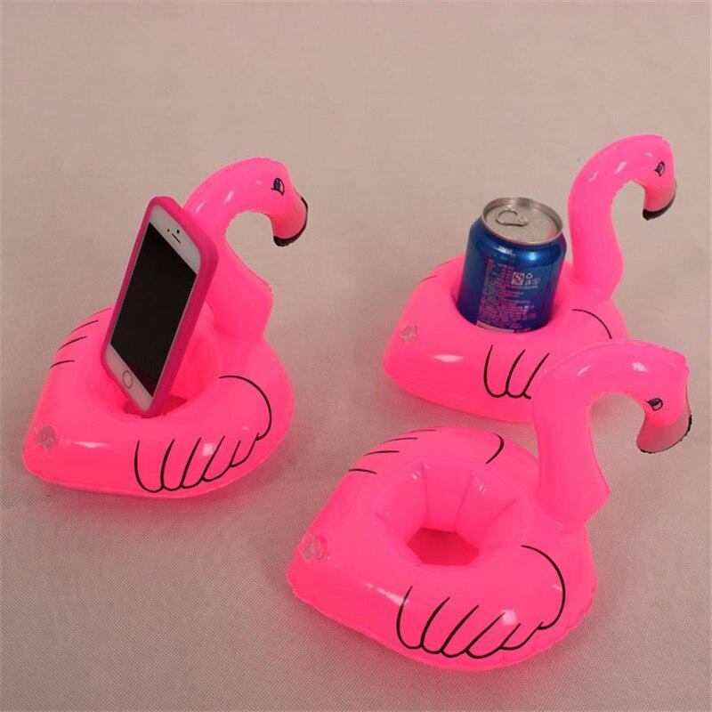 1 Piezas Flamingo Para Bebidas Barcos Teléfono Flotando Fiesta De Suministros Regalos De Boda Para Los Huéspedes Feliz Cumpleaños Decoración W