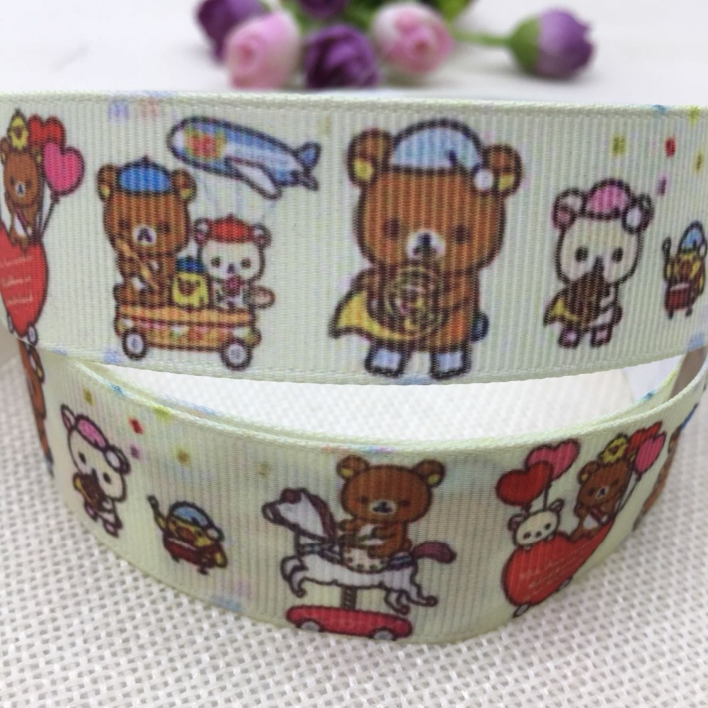 1 «25 мм новая распродажа 10 двор в горошек японской анимации кролик мультфильм печатных ребро ленты Diy аксессуары для волос, материал 8788