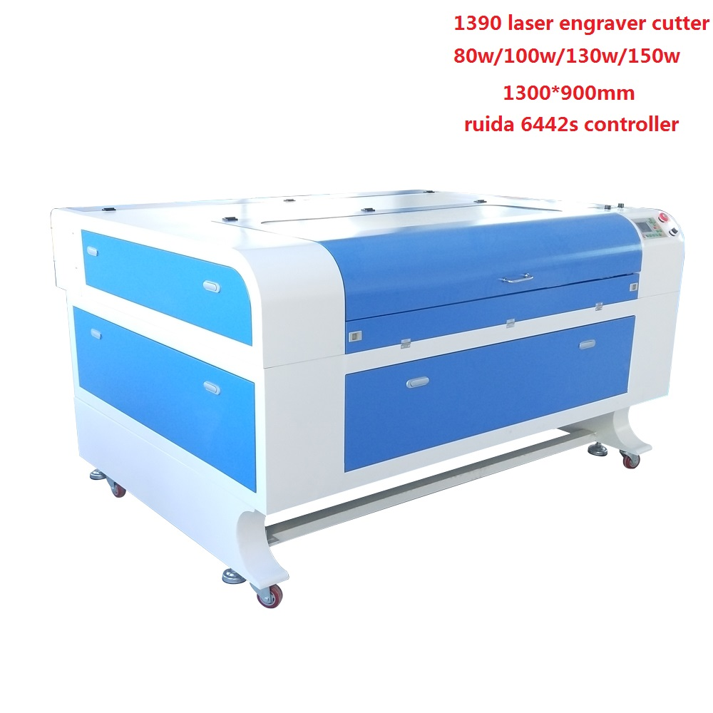 80w 100w 130w 150w Laser Cutting Machine 1390 With Ruida 6442s 1300*900 Laser Engraver Cutter For Nonmetal For Wood Leather PVC
