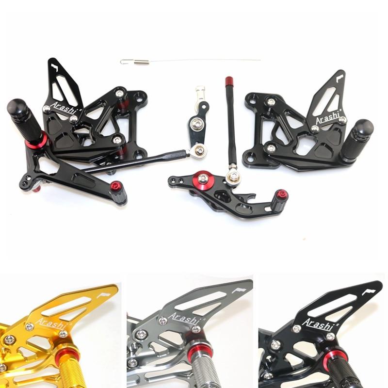 CNC Adjustable Rear Set Rearsets Footrest Foot Rest For MV AGUSTA BRUTALE 675 800 2012 2013 2014 2015 2016 2017