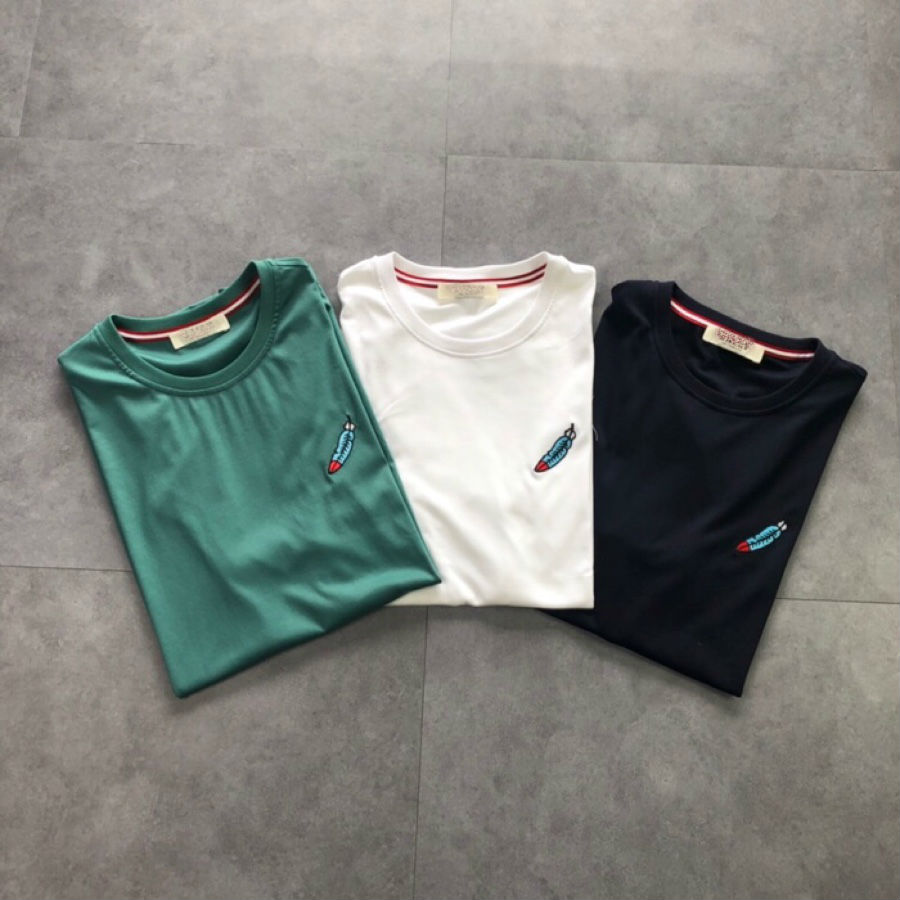 2019 nouveau coton court broderie o-cou 3 couleur 5 taille t-shirt femme vêtements