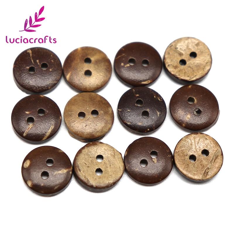 50 pcs 25 mm 2 trous de noix de coco boutons Scrapbooking Artisanat pour Couture