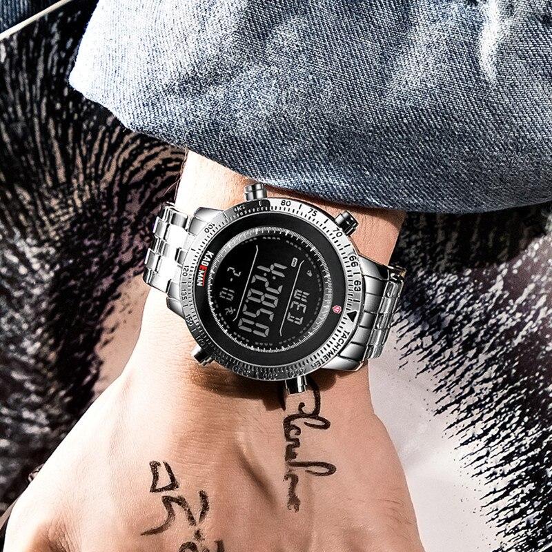 Image 4 - KADEMAN Fashion Step Men Watches Military Sport Watch Luxury TOP Brand Chronograph Wristwatch Casual Male Outdoor Clocks RelogioDigital Watches   -