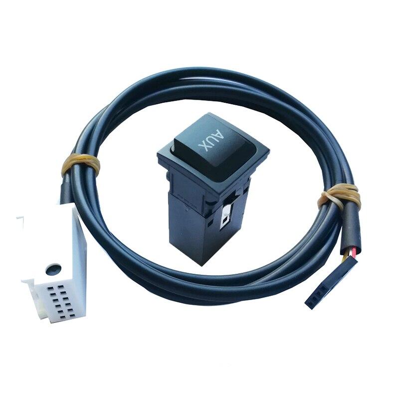 Автомобиль вход AUX адаптер AUX аудио в коммутаторе Кабель с разъемом Aux кнопка включения для VW Golf MK5 MK6 GTI Jetta MK5 Scirocco RCD510 RCD310
