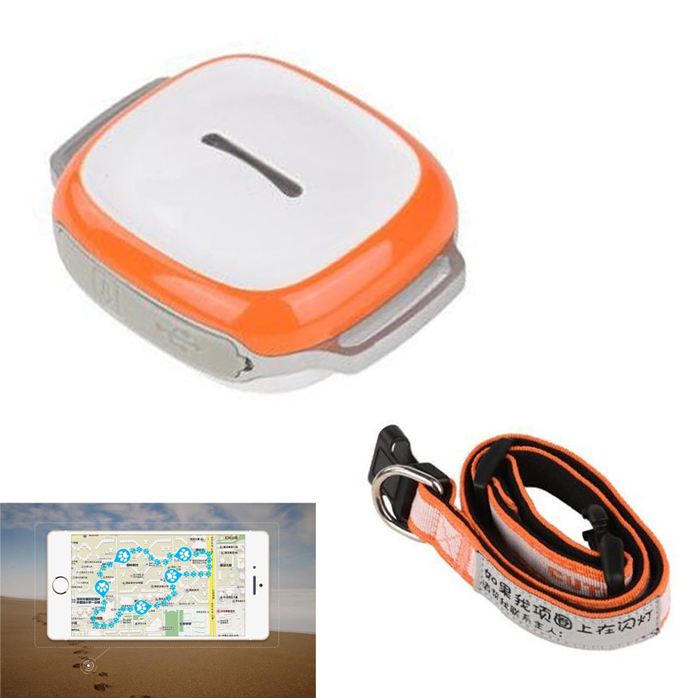 Mini GPS Tracker With Collar Waterproof Real Time Locator Rastreador Localizador Chip For Pets Dogs Cats LCC77 mini portable gps locator real time tracker sos communicator with lanyard for car person