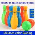 12 partes / set crianças de Bowling brinquedos de plástico crianças seguras jogo de esportes melhorar coordenação olho mão formação educacional