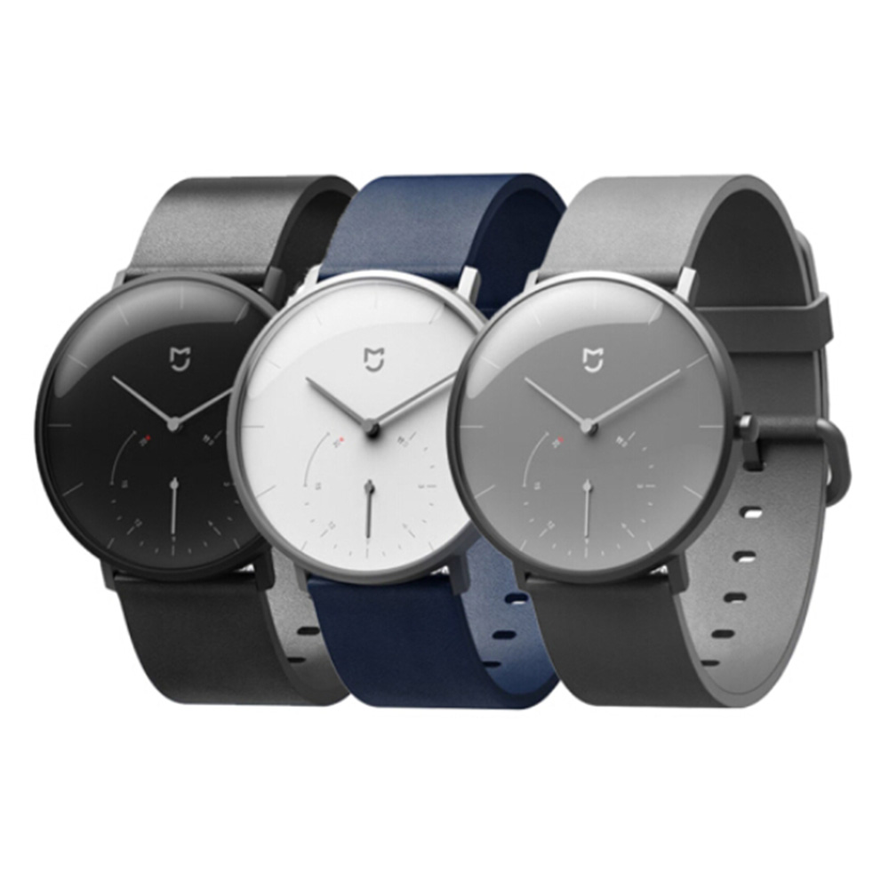 Xiaomi Mijia Quartz Smartwatch 3ATM Water Resistant Pedometer Stainless Steel Case Intelligent Vibration Waterproof Watch Gift