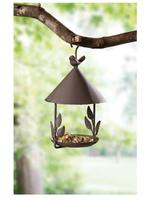 Ev ve Bahçe'ten Bahçe Statü ve Heykelleri'de 27*15 cm  Eski demir kuş evi kuş besleyici zanaat süsler demir kolye bahçe dekorasyon