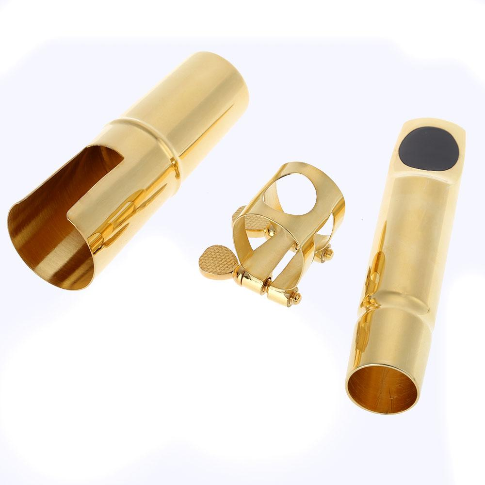 Gold Plating Jazz Alto /tenor/soprano 5C Sax Saxophone Mouthpiece Metal with Cap Saxophone Accessories Top Quality france selmer s90 metal mouthpiece alto sax tenor soprano saxophone mouthpiece professional grade free shipping