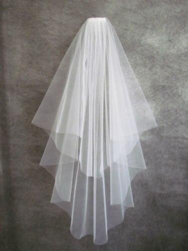 Free Shipping voile mariage White Ribbon Edge wedding veil Two-Layer Tulle Bridal Veil Wedding Accessories velos de novia  CO038