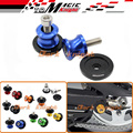 Accesorios de la motocicleta del cnc de aluminio basculante sliders carretes 8mm para kawasaki z800 2012 2013 2014 2015 azul
