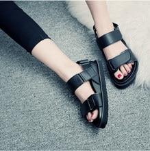 soft women hook loop Female open toe shoes Beach Wear flats lady platform Sandals comfort Peep Toe woman thick sole Footwear