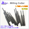 10pcs PCB Milling Cutter Carbide End Mill 1 7x8 5x3 175mm CNC Cutter Mini Drill Bit