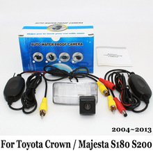 Камера заднего вида Для Toyota Crown/Majesta S180 S200 2004 ~ 2013/RCA AUX Проводной Или Беспроводной/HD Ночного Видения Автомобильная Стоянка камера