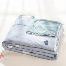 Весенне-летнее мягкое одеяло с кружевом, теплое одеяло с реактивной печатью, односпальная двуспальная кровать, механическая стирка, одеяло для детей и взрослых