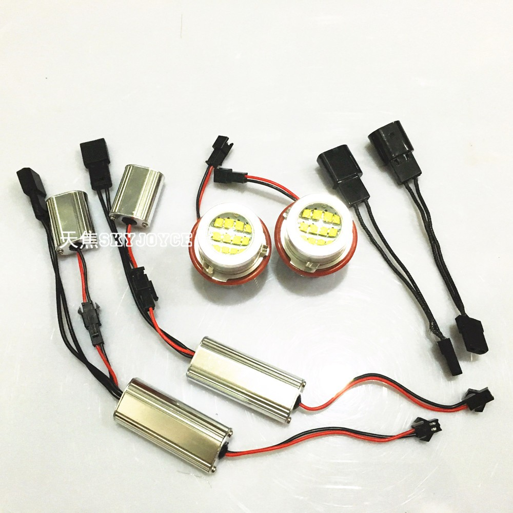 2X 60W Led marker angel eyes for E39 E87 E61 E63 E64 E83 E53 Car Styling Accessories DRL xenon white marker choice H8 marker led (2)