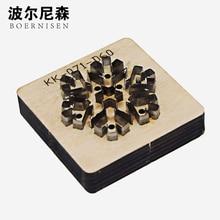 BOERNISEN Japanese steel knife snowflake earrings cutting mold leather craft machine wood