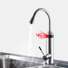 Kitchen Electric Water Heater Instant Hot Water Tap Water Faucet Heating Third Generation Heating Tube 220V Temperature Display kitchen faucet rotatable instant water heater led display instrument kitchen treasure speed hot water heating double handle