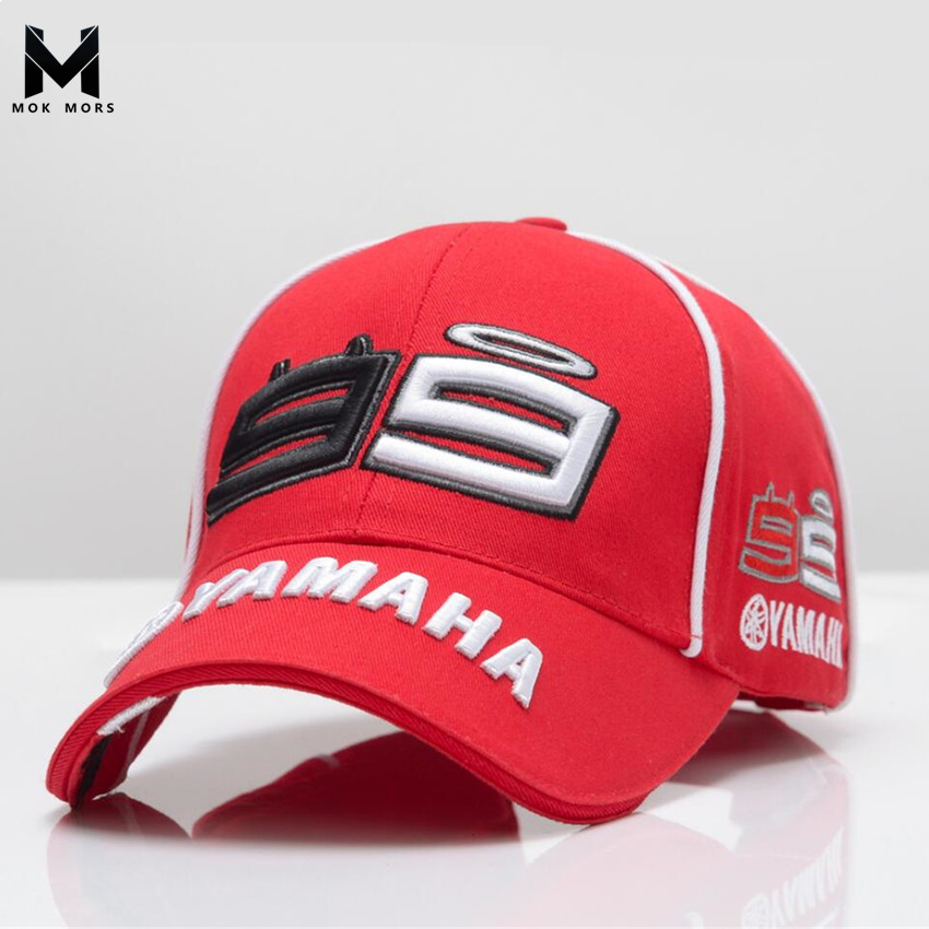 2018 High Quality MOTO GP 99 Motorcycle 3D Embroidered F1 Racing   Cap   Men Women Snapback   Caps   Rossi 99   Baseball     Cap   YAMAHA Hats