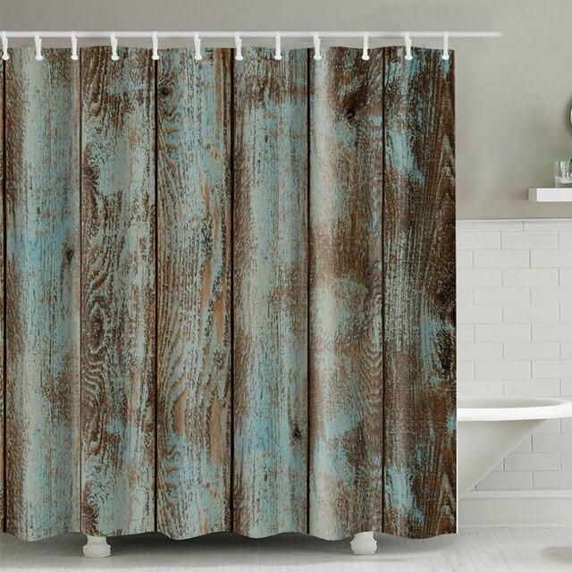 Legno modello impermeabile cortina di doccia Su Ordinazione Differente Impermeab