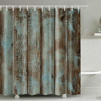 Wood pattern waterproof shower curtain Different Custom Waterproof Bathroom Shower Curtain Polyester Fabric Bathroom Curtain1pcs zwbra shower curtain