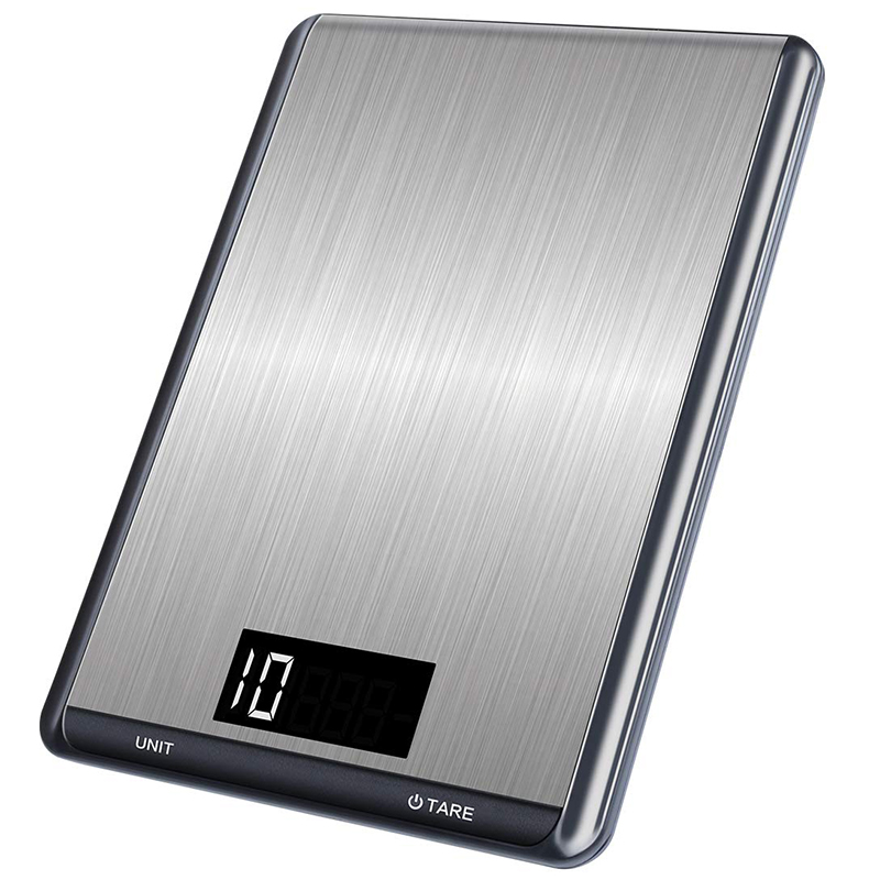 Digital Kitchen Food Scale 22lbs/10kg, Precision Food Scale LCD Display Tempered Glass Surface Touch Screen
