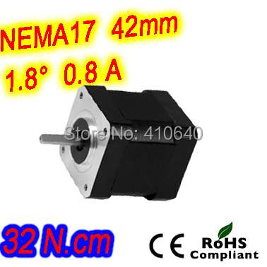 FREE SHIPPING step motor 17HS19-0806S L 47 mm Nema 17 with 1.8 deg 0.8 A 32 N.cm and unipolar 6 lead wire free shipping 5pcs per lot step motor 17hs19 2004s l48 mm nema17 with 1 8deg 2a 59n cm and bipolar 4 wire high torque type