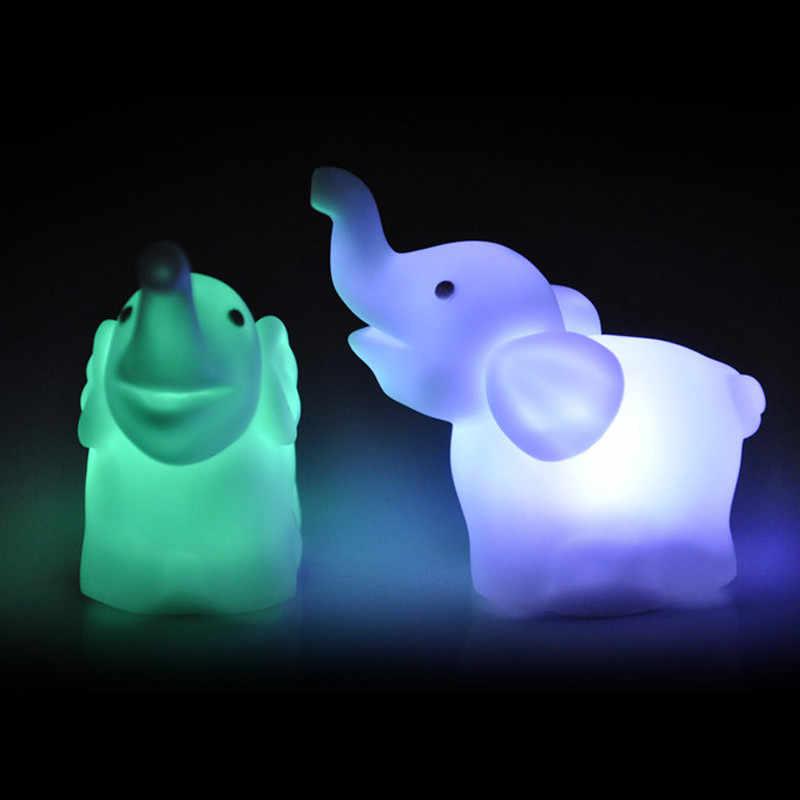 2 шт. прекрасный слон Форма Цвет Изменение светодиодный ночник лампа Свадебная вечеринка декора настенные лампа освещают украшения 29May 30