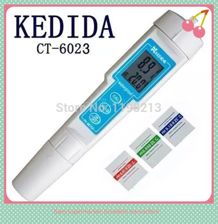 CT-6023 Digital PH meter Pen-type PH meter Portable PH tester 0.00-14.00pH Waterproof
