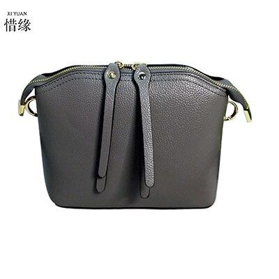 XIYUAN/Высококачественная Женская модная дизайнерская сумка-мессенджер из натуральной кожи, женская маленькая винтажная Ретро женская серая ручная сумка