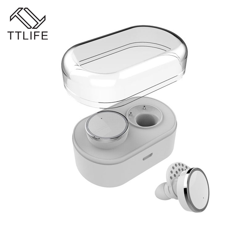 ФОТО TTLIFE Q800 Twins Bluetooth Wireless Bilateral Stereo Earphones Mini In-Ear Headsets With Smart Charge Storage Box For iPhone 7