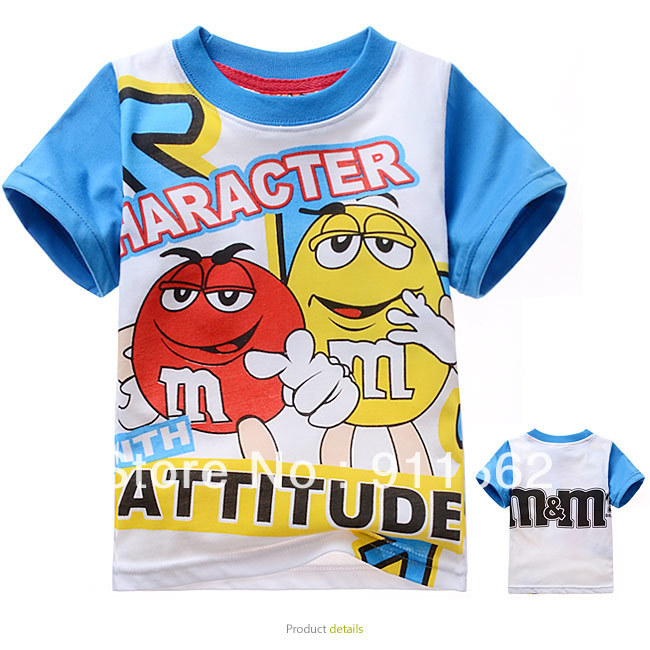Cartoon Blue Birds 100/% Cotton Toddler Baby Boys Girls Kids Short Sleeve T Shirt Top Tee Clothes 2-6 T