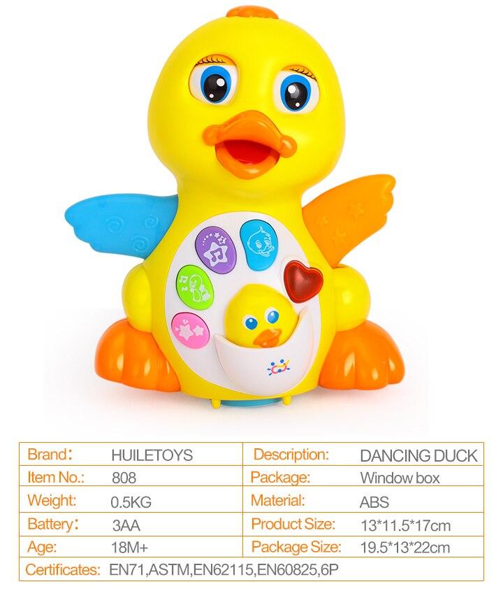 ღ ღHUILE TOYS 808 Baby Toys EQ Flapping Yellow Duck Infant ...