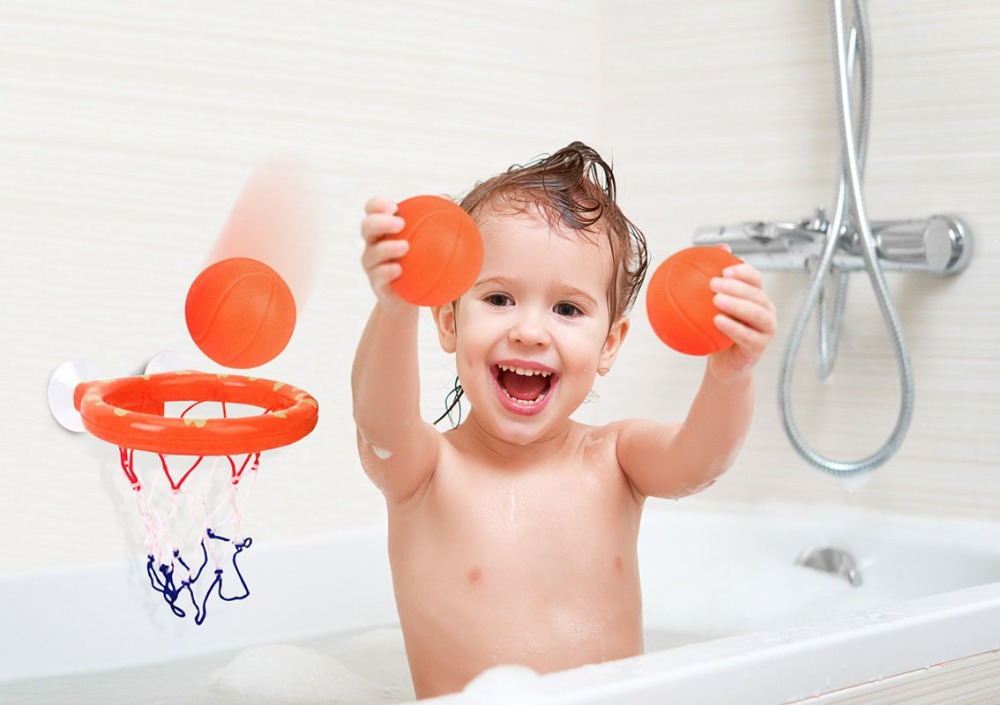 Toddler Bath Toys Children Basketball Hoop Bathtub Water Play Set for Baby UK