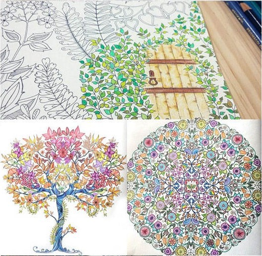 Hot Ing Secret Garden English Coloring Book For Children And