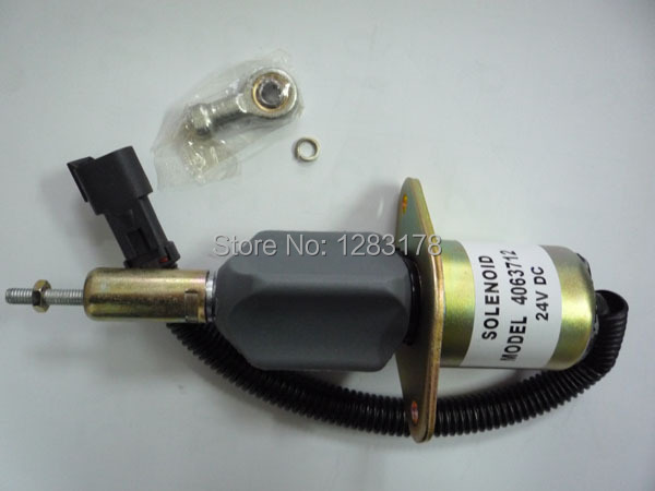 6CT 8.3L Excavator flameout DIESEL SHUT OFF SOLENOID 4063712, 6742-01-2310, 600-815-9150, 6743-81-9141 free shipping 3931590 for r220 pc150lc 6k pc160lc 6k pw160 7 excavator flameout shut off solenoid 24 volt