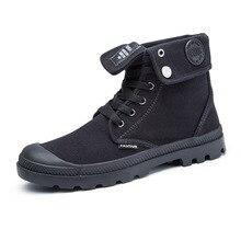 2016 Autumn Men Canvas Boots Shoes Casual Flat Ankle Boot Breathable Shoelace Men s Shoes