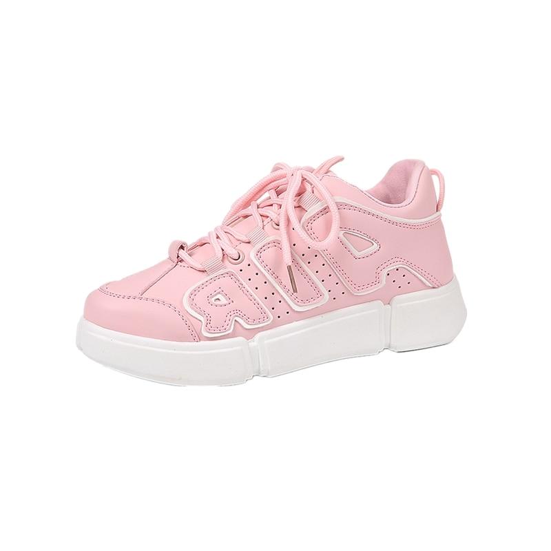 Vente La De Chaussures Meilleure blanc Rétro Mode rose Noir Respirant Fond Étudiantes Talon Haute Coréenne Mou Confortable Course Casual Chaussures 85BBn