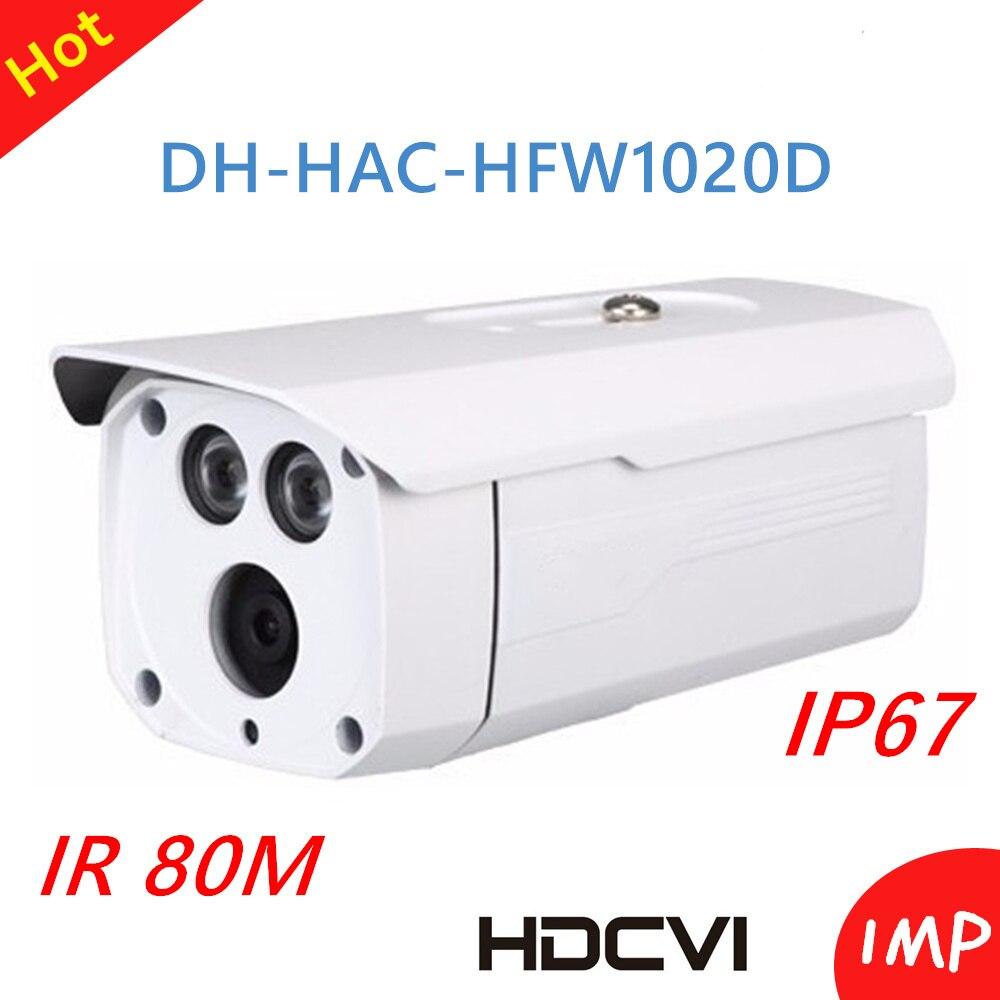 Hot Wholesale DH HDCVI camera 1Mp 720P Outdoor Waterproof Bullet Camera HAC-HFW1020D Smart IR 80m Support ICR Hot Wholesale DH HDCVI camera 1Mp 720P Outdoor Waterproof Bullet Camera HAC-HFW1020D Smart IR 80m Support ICR