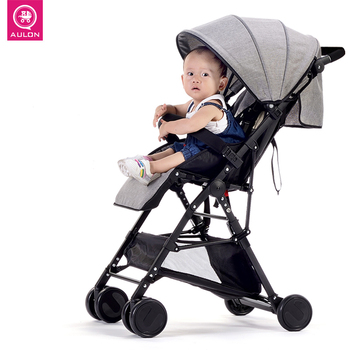 Fast shipping! Light weight travel Baby stroller 8pcs gifts portable can sit and lying folding baby high landscape stroller mini light small baby stroller baby carriage cart portable foldable travel system car stroller airplane pram can sit flat lying