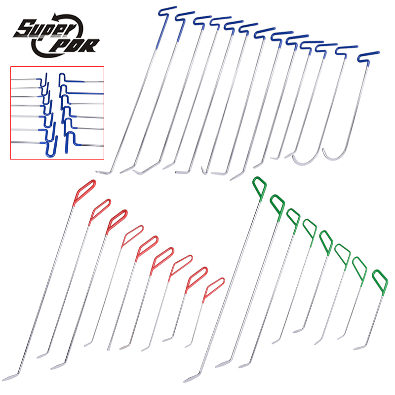 30 pcs High quality PDR Rods Hooks Tools Set Paintless Dent Repair Tools Dent Removal PDR Tools pdr rods high quality auto parts repair tools set paintless dent repair hand tools pdr hooks car dent removal auto body tools