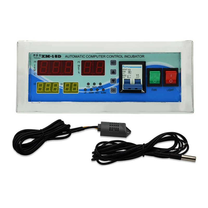 XM 18D Egg Incubator Controller With Thermostat Hygrostat Sensor Full Automatic Control Safe Package